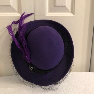 Michael Howard purple hat embellished 21 inches